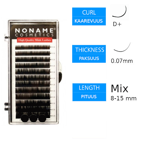 Noname Cosmetics Volyymiripset D+ 0.07 / 8-15mm