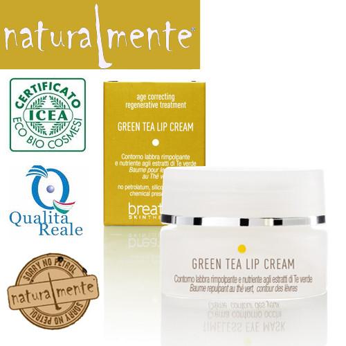 Naturalmente Breathe Age Correcting Green Tea Lip Cream huulivoide 15 mL