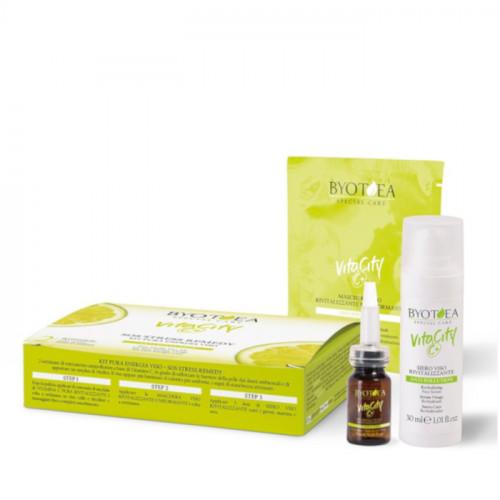 Byotea VitaCity C+ SOS Stress Remedy Face Kit tehopakkaus