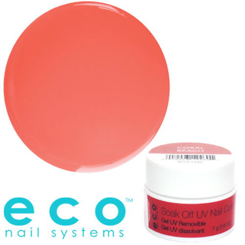 Eco Nail Systems Coral Beach Eco Soak Off geelilakka 7 g