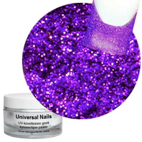 Universal Nails Violetti UV glittergeeli 10 g