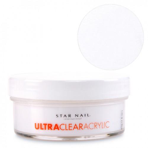 Star Nail Valkoinen Ultra Clear akryylipuuteri 45 g