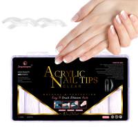 Noname Cosmetics Powder Polygel Acrylic Nail Tips kirkkaat tippimuotit 240 kpl