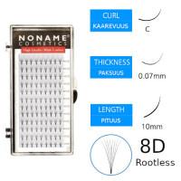 Noname Cosmetics Premade Fans Rootless 8D Volyymiripsiviuhkat C 0.07 / 10mm