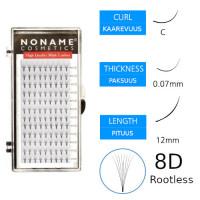 Noname Cosmetics Premade Fans Rootless 8D Volyymiripsiviuhkat C 0.07 / 12mm