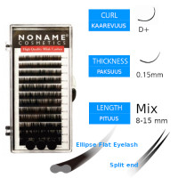 Noname Cosmetics Ellipse Flat Pidennysripset D+ 0.15 / 8-15mm