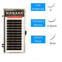Noname Cosmetics Pidennysripset D 0.20 / 9mm