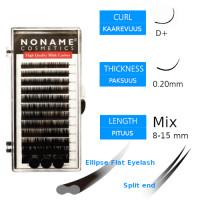 Noname Cosmetics Ellipse Flat Pidennysripset D+ 0.20 / 8-15mm