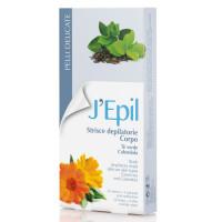 Xanitalia J'Epil Body Kylmävahaliuskat vartalolle Green Tea & Calendula 20 kpl