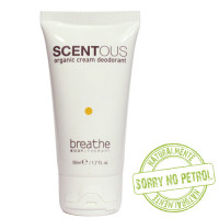 Naturalmente Breathe Scentous Organic Cream deodorantti 50 mL