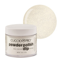 Cuccio White Silver Mica Powder Polish dippipuuteri 45 g