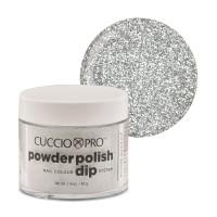 Cuccio Silver w/ Silver Glitter Powder Polish dippipuuteri 45 g