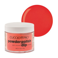Cuccio Red with Orange Powder Polish dippipuuteri 45 g