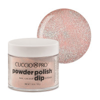 Cuccio Light Pink Glitter Powder Polish dippipuuteri 45 g