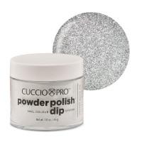 Cuccio Silver Glitter Powder Polish dippipuuteri 45 g