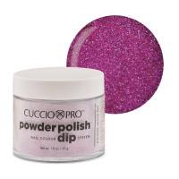 Cuccio Fuchsia Pink Glitter Powder Polish dippipuuteri 45 g