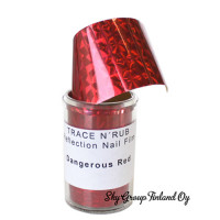 Noname Cosmetics Dangerous Red Koristefolio 140 cm