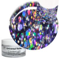 Universal Nails Spaceman Big Glitter UV glittergeeli 10 g