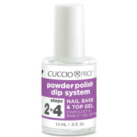 Cuccio Step 2-4 Base & Top Gel Dip System alus- ja päällysgeeli 14 mL