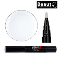 BeautQ Professional Kirkas Longlife Pen Base&Top Alus- ja päällysgeelilakka kynä 4 mL