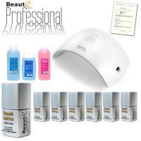 BeautQ Professional Geelilakka-aloituspaketti SUN 9C UV & LED-uunilla