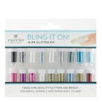 Cuccio Bling-It On! Glitter Kit glitterjauhe lajitelma 18 kpl