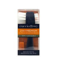 Cuccio 2-in-1 Premium Cuticle & Duster Brush 2-päinen kynsiharja
