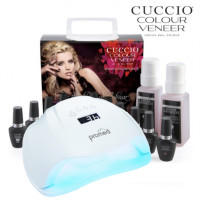 Cuccio Veneer Match Makers Geelilakka-aloituspaketti Promed UVL-54 UV & LED-uunilla