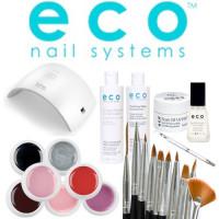 Eco Nail Systems Soak Off Aloituspaketti SUN 9C UV & LED-uunilla