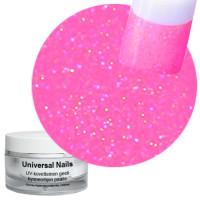 Universal Nails Roosa Sateenkaari UV glittergeeli 10 g