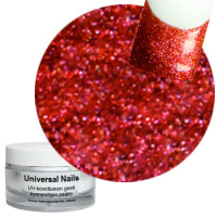 Universal Nails Red Power UV glittergeeli 10 g