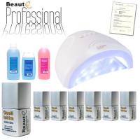 BeautQ Professional Geelilakka-aloituspaketti SUN One UV & LED-uunilla