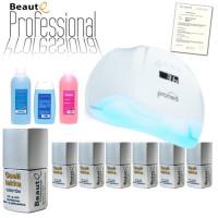 BeautQ Professional Geelilakka-aloituspaketti Promed UVL-54 UV & LED-uunilla