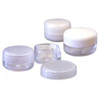 Noname Cosmetics Valkoinen Tyhjä muovirasia valkoisella kannella 10 mL