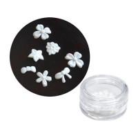 Noname Cosmetics White plastic flowers 20 kpl