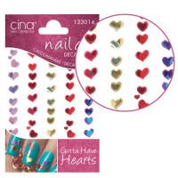 Cinapro Gotta Have Hearts Nail Art Stickers