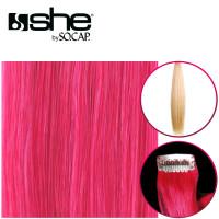 So Cap Straight OneClip Extension color Fuchsia 40-45 cm