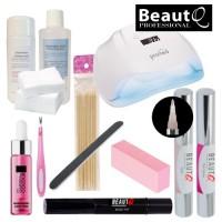 BeautQ Professional Longlife Pen Soak Off Gel Starter Kit with Promed UVL-54 UV & LED-lamp