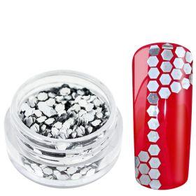 Universal Nails Heksagoni paljetit hopea 1,5 g