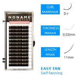 Noname Cosmetics Easy Fan Volyymiripset D+ 0.03 / 11mm