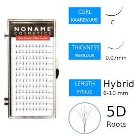 Noname Cosmetics Premade Fans Roots 5D Volyymiripsiviuhkat C 0.07 / hybrid 6-10mm