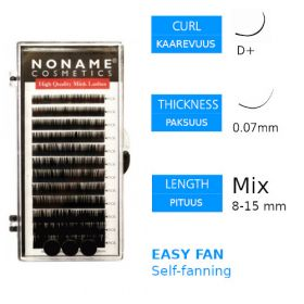 Noname Cosmetics Easy Fan Volyymiripset D+ 0.07 / 8-15mm