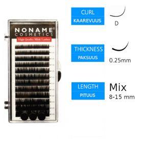 Noname Cosmetics Pidennysripset D 0.25 / 8-15mm