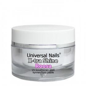 Universal Nails Roosa X-tra Shine UV/LED päällysgeeli 10 g