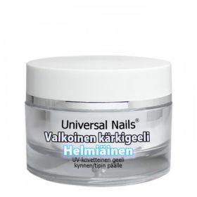 Universal Nails Valkoinen Helmiäinen UV/LED kärkigeeli 10 g