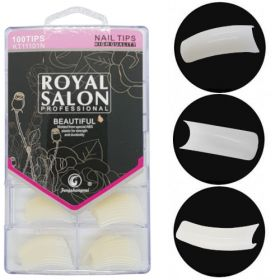Noname Cosmetics Royal Salon Luonnolliset Tipit Litteä lyhyt liimapinta 100 kpl