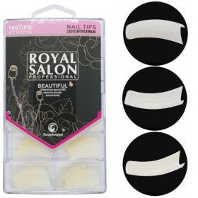 Noname Cosmetics Royal Salon Luonnolliset Tipit Kaareva lyhyt liimapinta 100 kpl