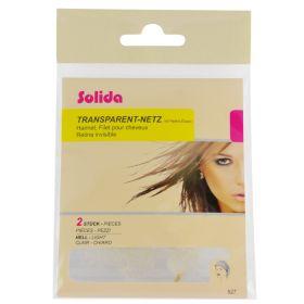 Solida Transparent Vaalea Kokopään hiusverkko 2 kpl