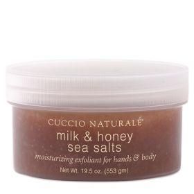 Cuccio Naturalé Sea Salts Milk & Honey pehmeä merisuolakuorinta 553 g