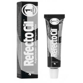 RefectoCil Black Nro 1 Musta ripsien & kulmien kestoväri 15 mL